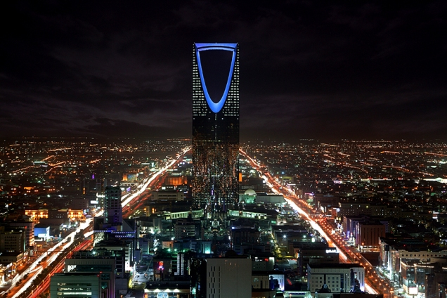 Riyad (Saudi Arabia) by night
