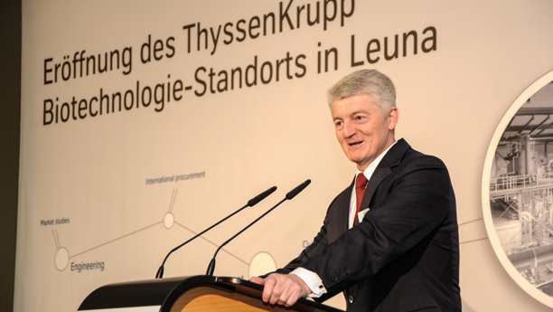 Heinrich Hiesinger, ThyssenKrupp Ceo, in Leuna