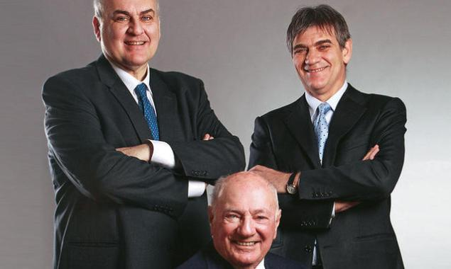 The Ghisolfis. From left to right: Guido, Vittorio and Marco