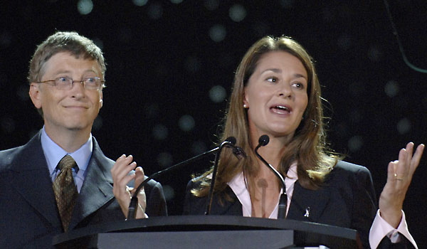 Bill and Melinda Gates: their Foundation supported the start-up of Amyris in 2005