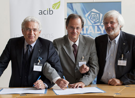 In the middle: Anton Glieder, Ceo of ACIB GmbH