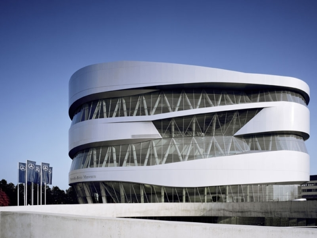 Mercedes-Benz Museum in Stuttgart, Germany