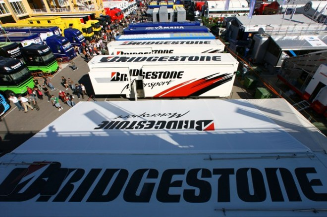 Bridgestone trucks. The Japanese company is MotoGP tires supplier