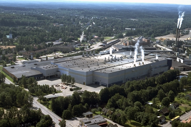 Stora Enso Paper mill in Hyltebruk