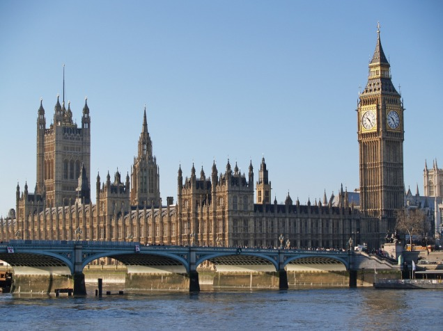 The British Parliament in London