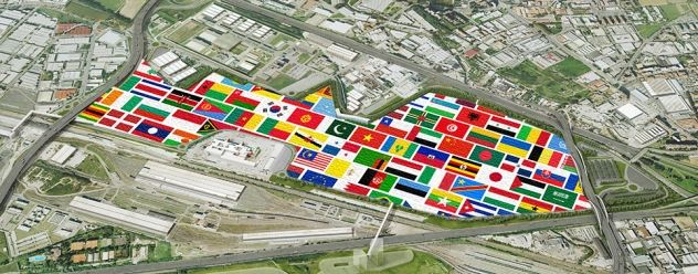 The Area of Expo 2015 closed to Milan