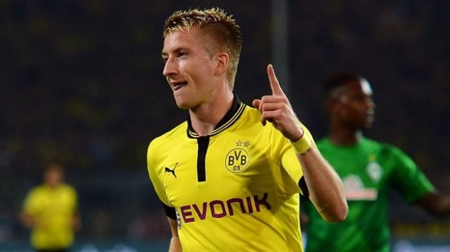 Marco Reus. Evonik is popular as main sponsor of German Football team Borussia Dortmund