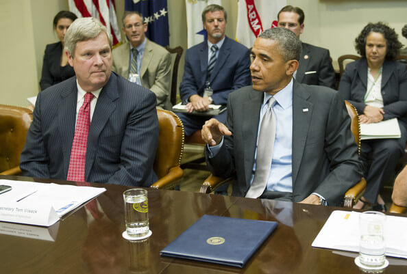 Tom Vilsack and Barack Obama