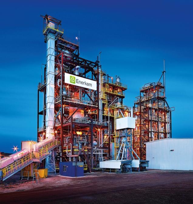 Enerkem's biorefinery in Edmonton, Alberta