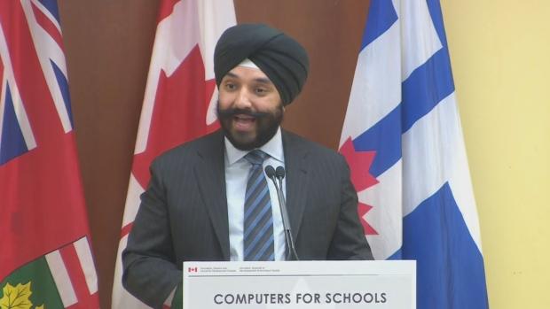 The Minister Navdeep Bains
