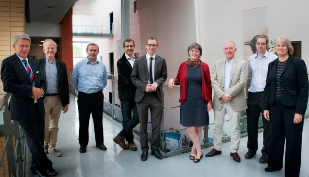BioVale Steering Group. Margaret Smallwood is the fourth from the right. Copyright BioVale