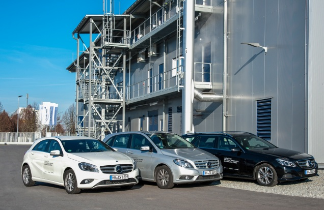 Mercedes-Benz fleet at Clariant´s sunliquid® demonstration plant for production of cellulosic ethanol from agricultural residues.;
