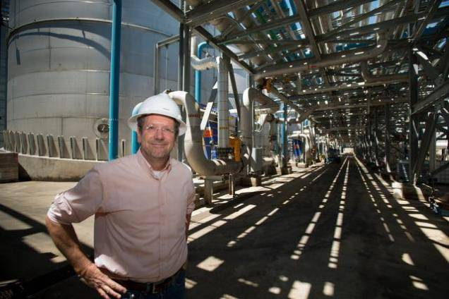 Neil Koehler, president and CEO Ethanol Pacific, at the company's plant in Stockton