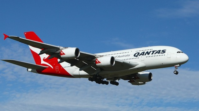Qantas operated the first-ever commercial flight to produce